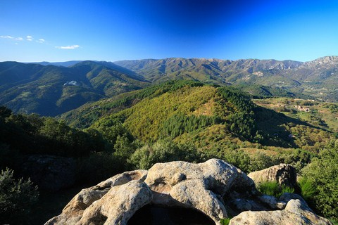 panoramic view of ardeche mountains tanargue